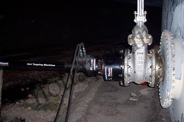 انشعاب گیری گرم هات تپ روی مخازن نفتی